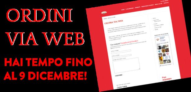 Ordini via Web: hai tempo fino al 9 dicembre!